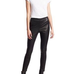 Rag & Bone Simone Leather Pants (black, size 4)